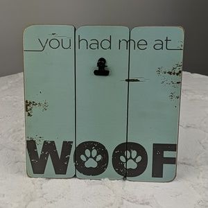 Fetco Home Decor Cabins Woof 9x9 Picture Frame